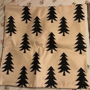 Other - Linen burlap trees Nordic pillowcase cover woodlan